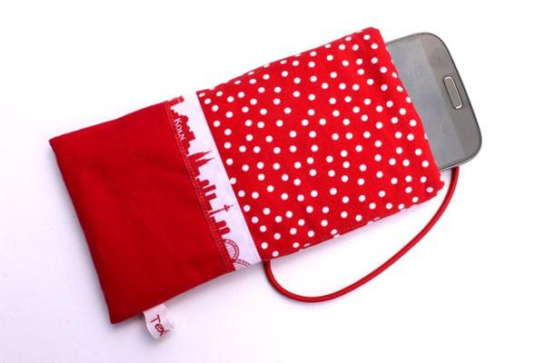 Handy-Taschen mit Köln-Skyline rot-weiß
