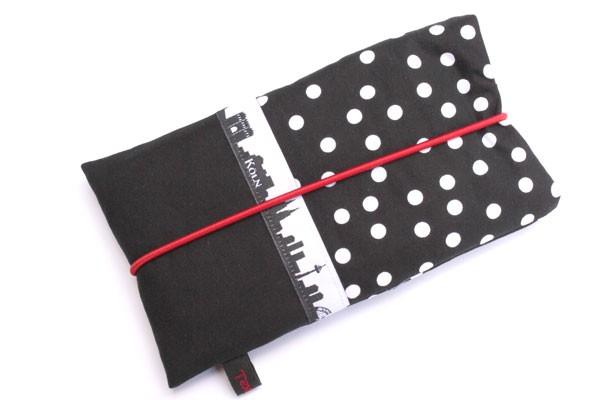 Handy-Tasche mit Köln-Skyline / schwarz-weiß L