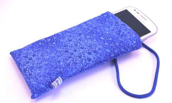 Handy-Taschen neutral - Blaue Ranken