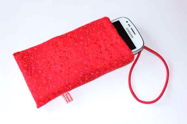Handy-Taschen neutral - Rote Ranken