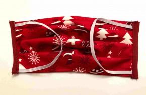Alltagsmaske - Rot-weiße Tannenbäume