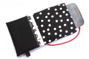 Handy-Tasche mit Köln-Skyline / schwarz-weiß XL