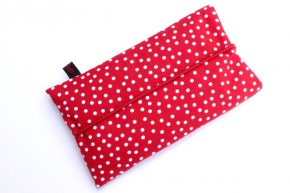 Handy-Tasche mit dunkelrotem Dom / rot-weiß XL